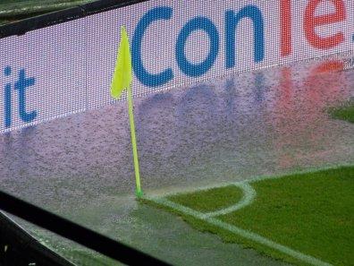 Im Laufe des Spiels wurde es mehr und mehr zur Regenschlacht
