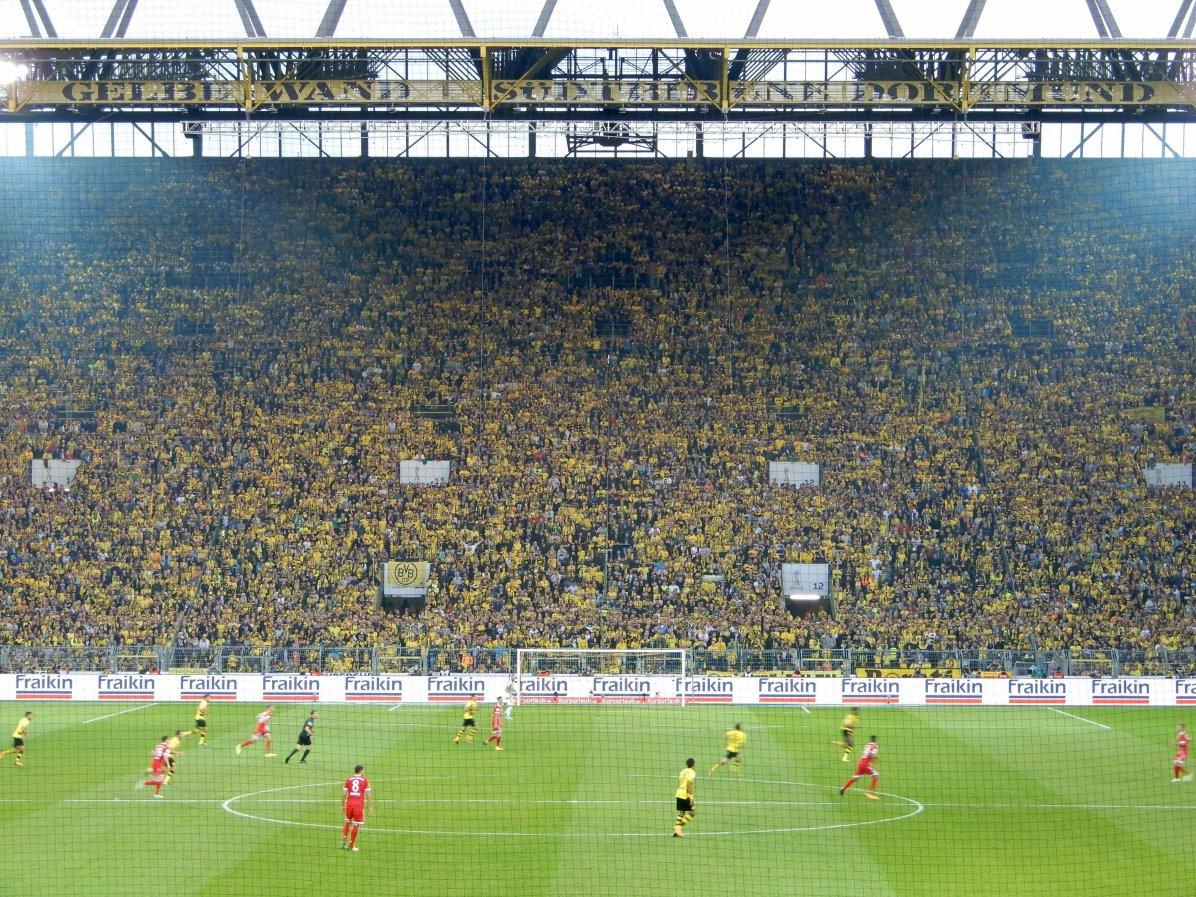 Die unglaubliche Gelbe Wand im Stadion des BVB