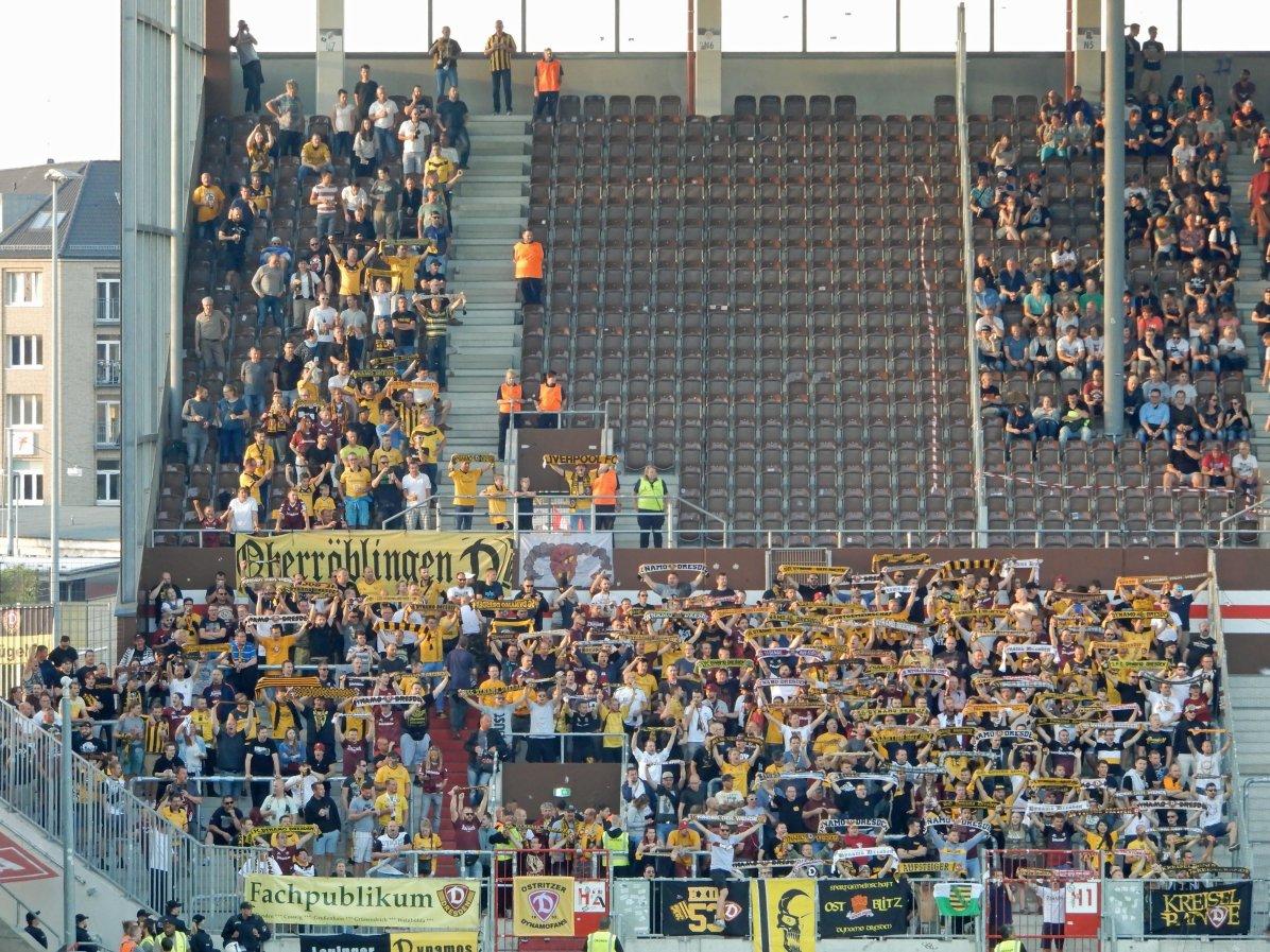 Die Fans aus Dresden - die Ultras boykottierten die Partie