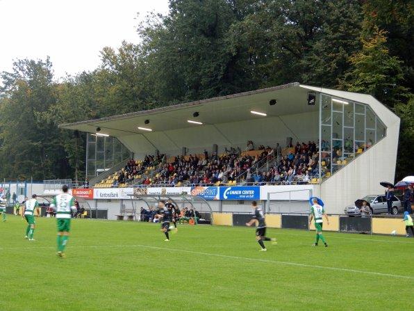 Das Stadion Gersag mit seiner kleinen Tribüne