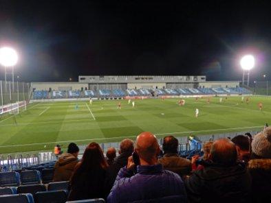 Die gesperrte Gegentribüne beim Derby in der dritten Liga
