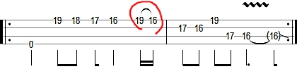 metallica for whom the bell tolls bass tab intro