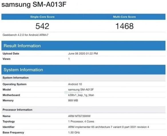 Готовится к выходу простой и архаичный Samsung Galaxy A01e – фото 2