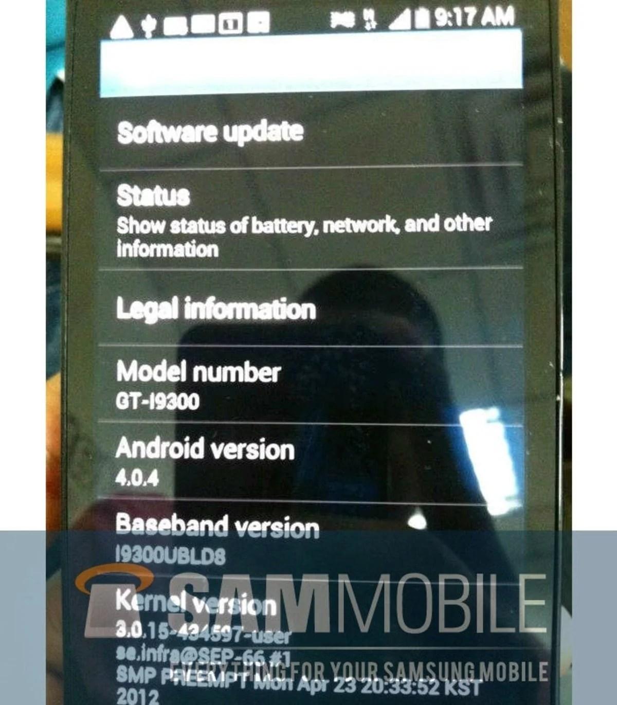 Información del Samsung Galaxy SIII