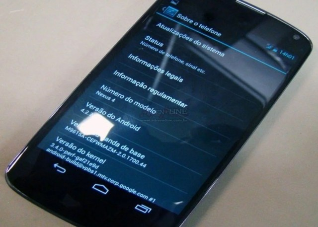 Android 4.2.2 en Google Nexus 4