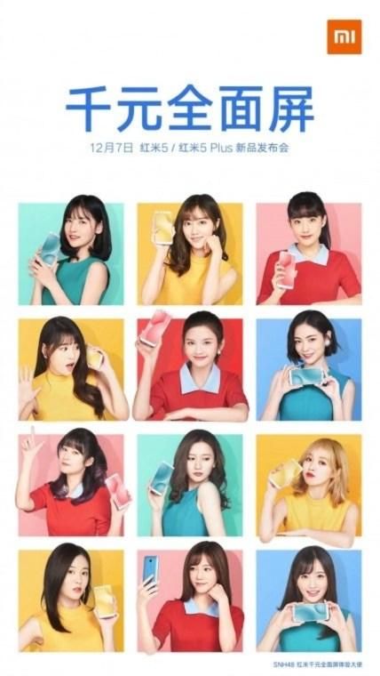 Cartel publicitario Xiaomi Redmi 5