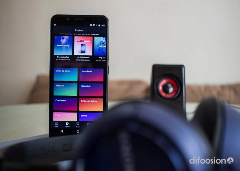Spotify Android Menu