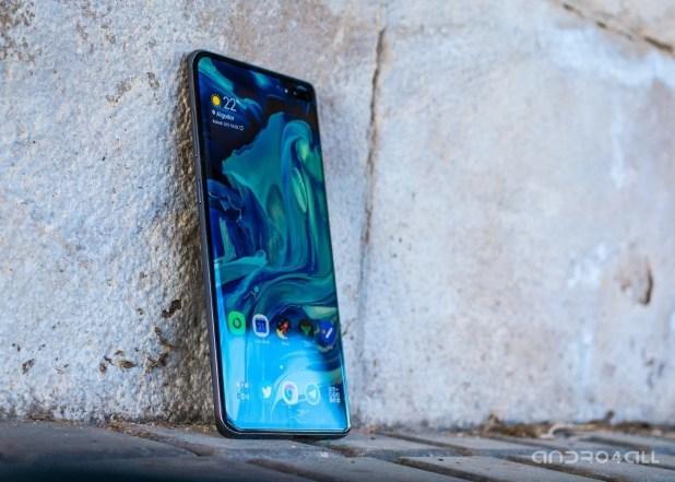 Samsung Galaxy S10+, pantalla de inicio