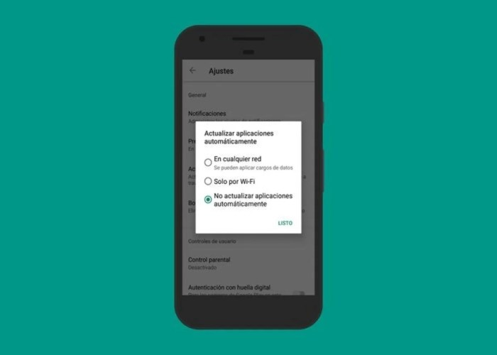 Actualización automática de apps en Play Store