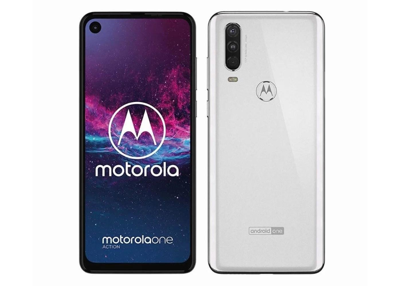 Motorola One Action en color blanco