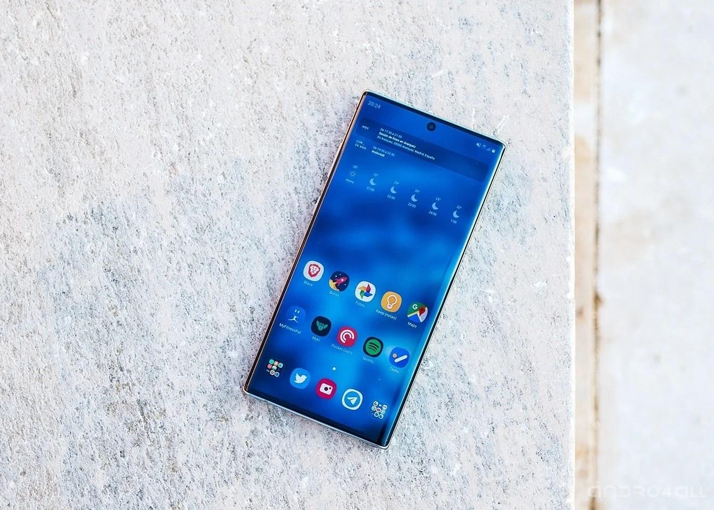 Samsung Galaxy Note10+, pantalla