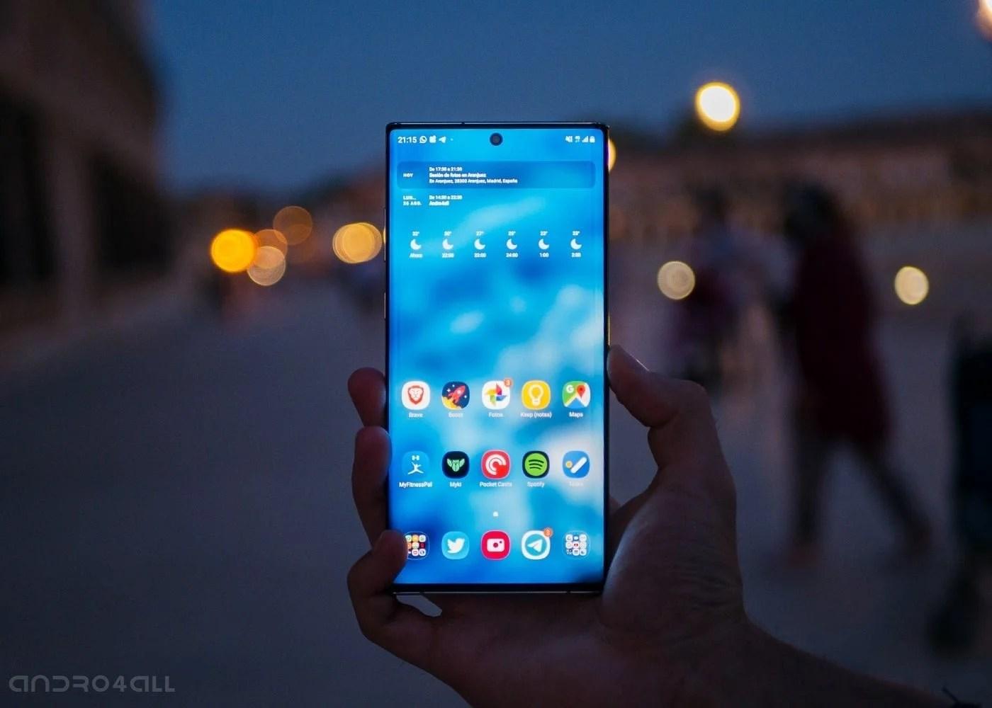 Samsung Galaxy Note10+, pantalla de noche