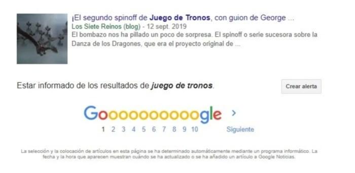 Alertas de noticias de Google 1