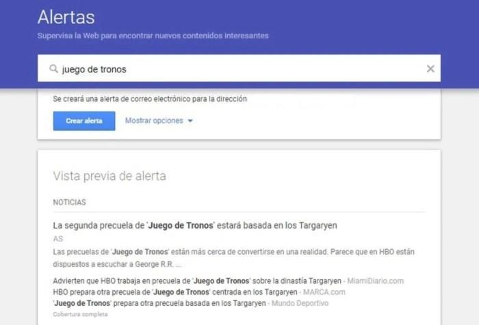 Alertas de noticias de Google 2