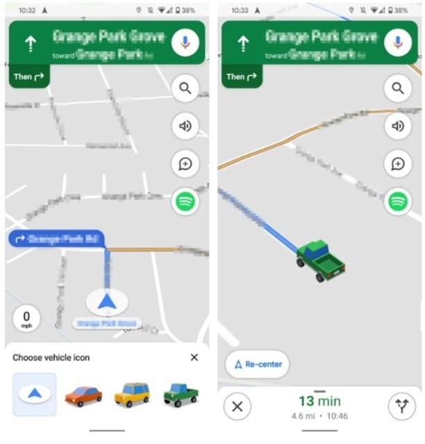 Google Maps nuevos iconos