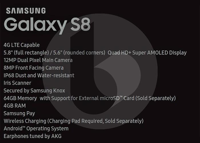 caracteristicas del samsung galaxy s8