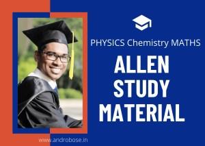 Allen Study Material