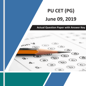 PU CET (PG) 2019 Official Question Paper with Key 09-June-2019
