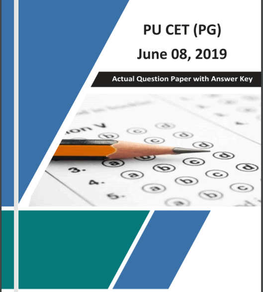 PU CET (PG) 2019 Official Question Paper with Key 08-June-2019 1