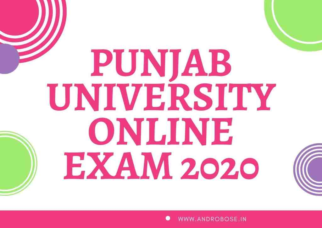 Punjab University Online Exam 2020