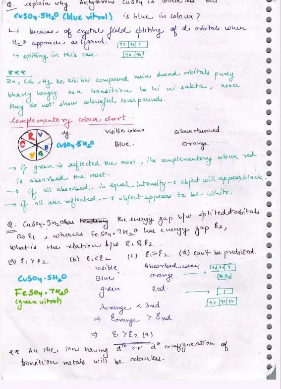 Inorganic Chemistry Class 12 Notes
