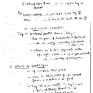 Plant Physiology Handwritten Notes Pdf