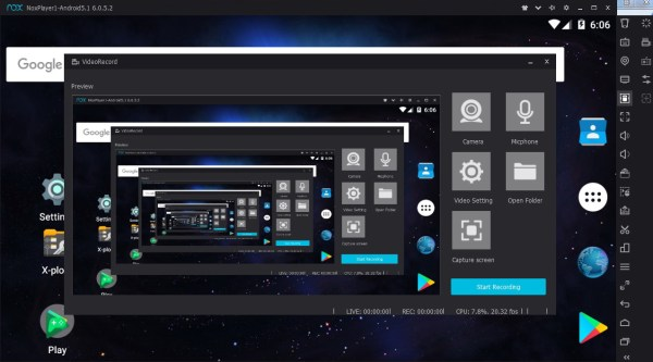 Nox Video record utility