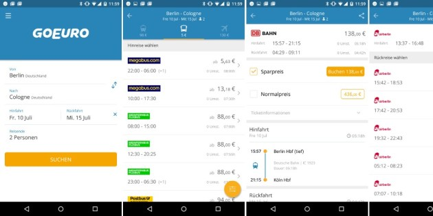 GoEuro Bus App