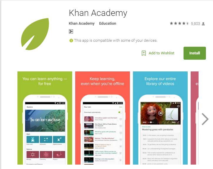 Khan Academy - ТОП 10 лучших приложений для Android