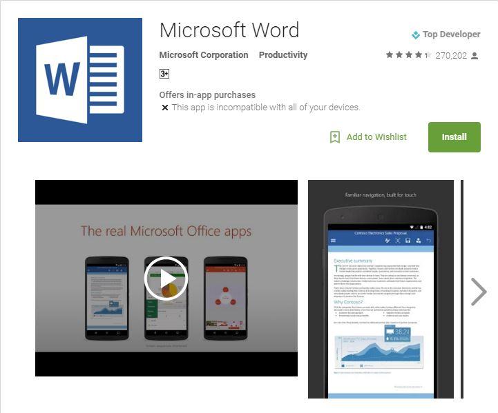 Microsoft Word, Excel, PowerPoint - ТОП 10 лучших приложений для Android