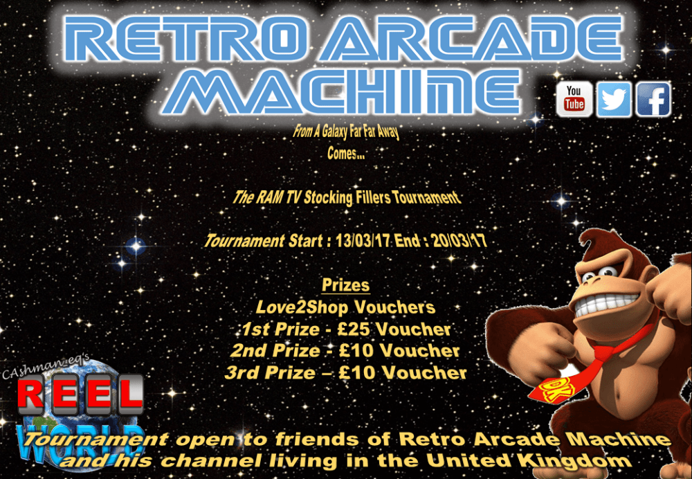 Retro Arcade Machine Stocking Filler Tournament 1
