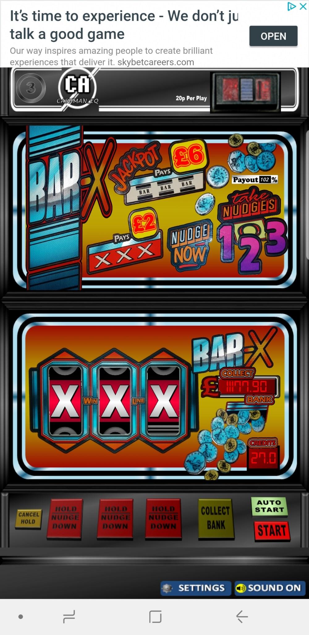 Classic Bar X in classic 1985 cabinet