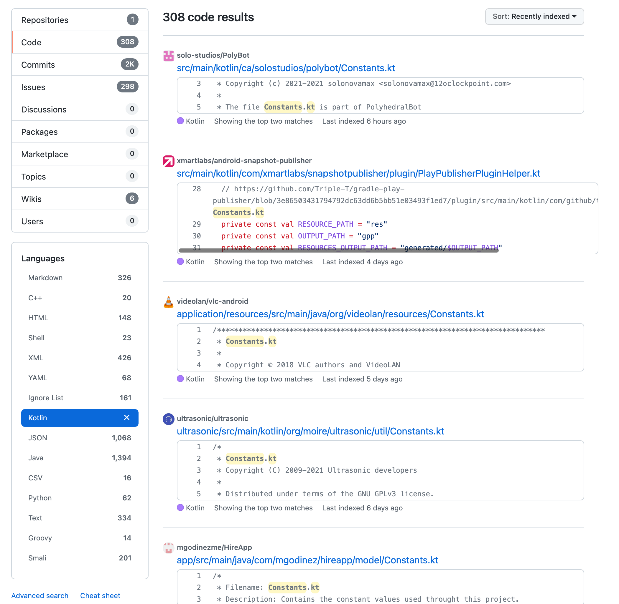 Constants.kt - GitHub Search