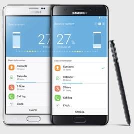 Le Samsung Galaxy Note 7 de face