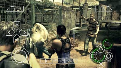 Resident Evil 5 PPSSPP ISO Zip file Download