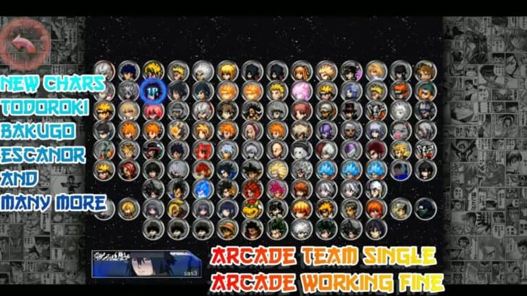 Anime Mugen Apk 100+ Characters Download for Android