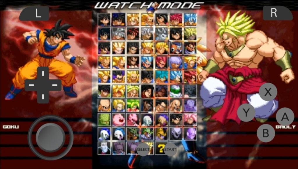 Dragon Ball Z Arena Mugen Apk 100+ Characters