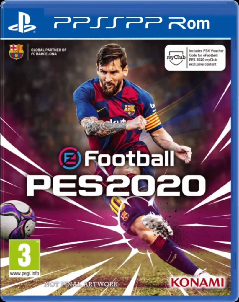 Pes 2020 PPSSPP ISO Zip File Android PS4 Camera