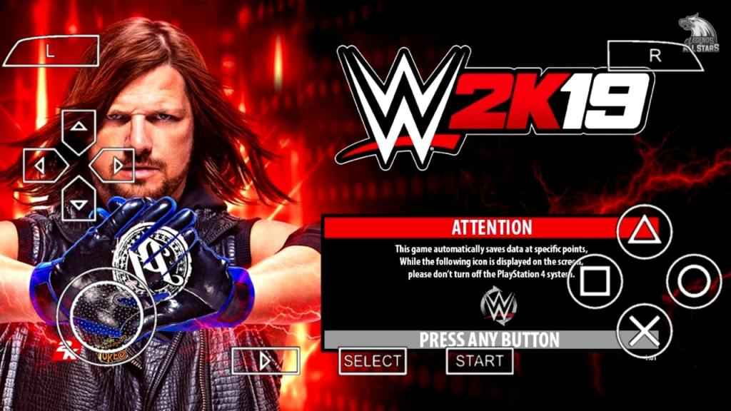 WWE 2K19 PPSSPP ISO File Download Highly Compressed
