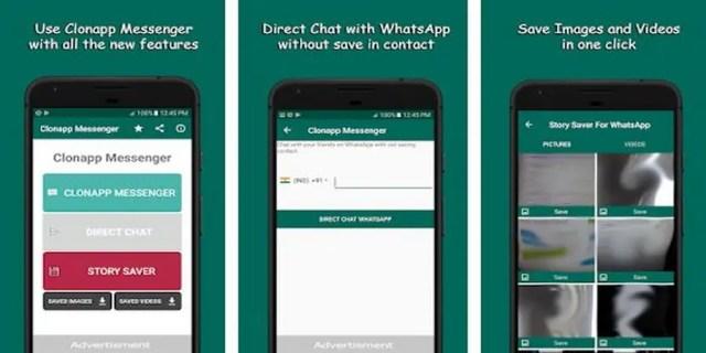 Clonapp Messenger - Cara Menyadap WA Pasangan di HP Kita