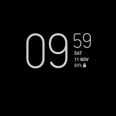 Samsung Galaxy S8 Always on Display Clock 2