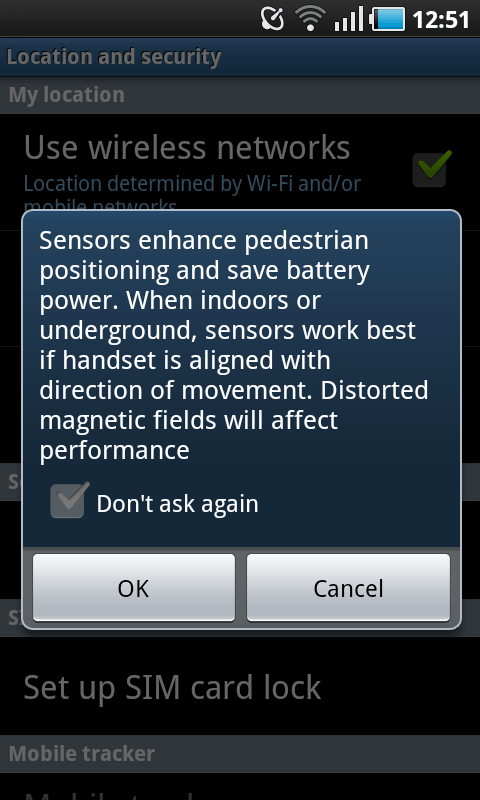 sensor enhance location settings