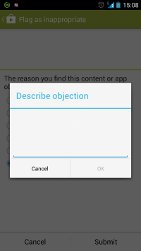 Report App Play Store Notes