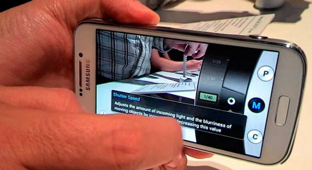 Opciones de la cámara en el Samsung® Galaxy S4 Zoom