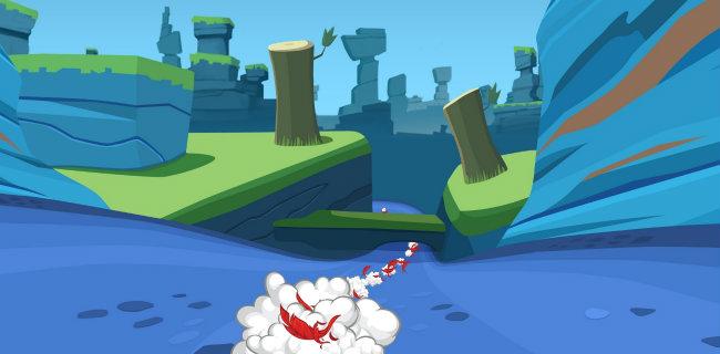 Pantalla de muestra del nuevo Angry Birds Go!