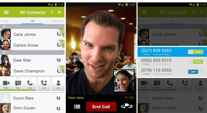 fring Best Video Calling Apps for Android