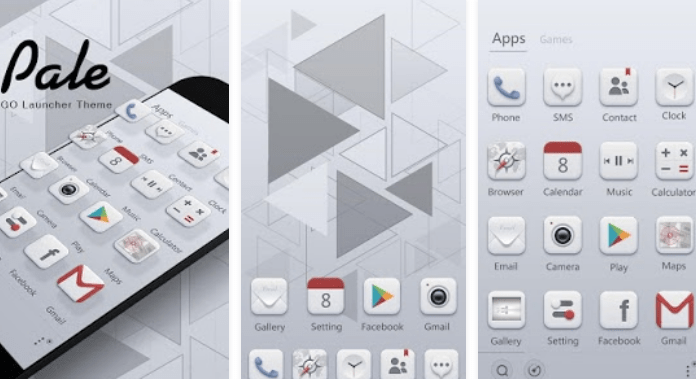 Best Go Launcher Themes free Download Pale