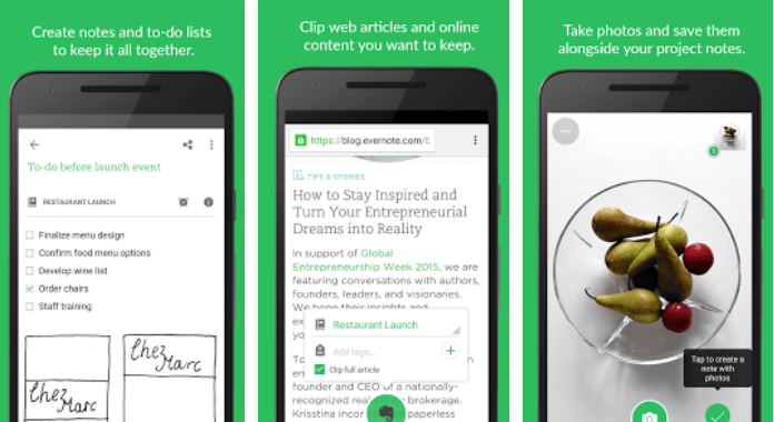 Use Evernote for Android