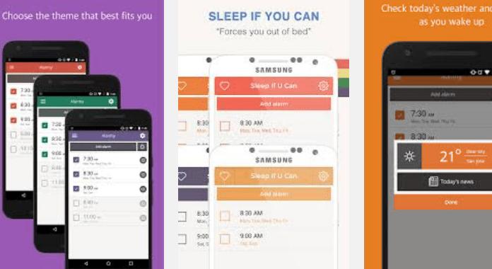 Alarm app Alarmy (Sleep If U Can)