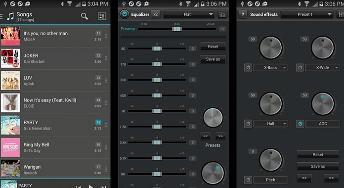 Best Android Music player Apps Equalizer music player booster
